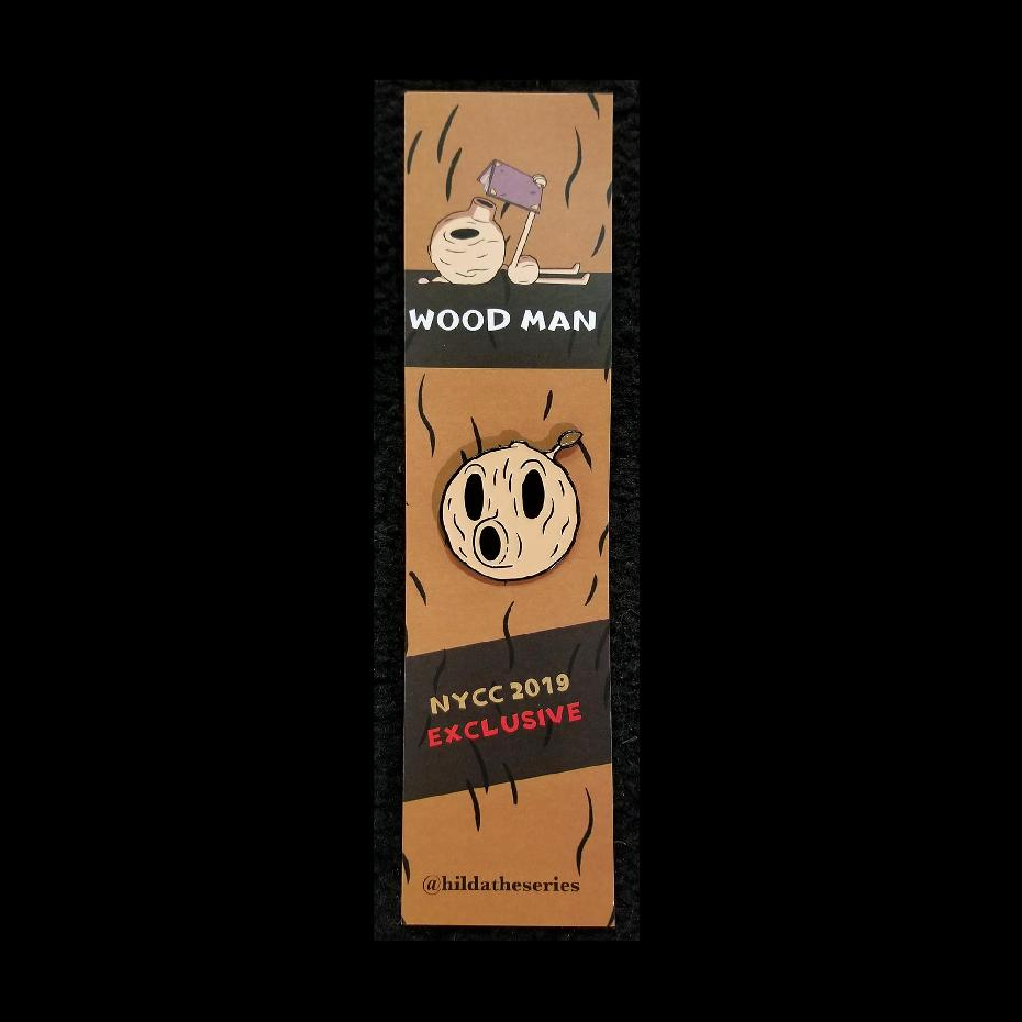 Hilda Netflix Series Wood Man Pin