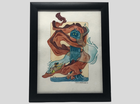 The Lindworm and the Water Spirit (Framed)