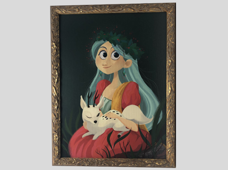 Hilda The Forest Princess (Framed)